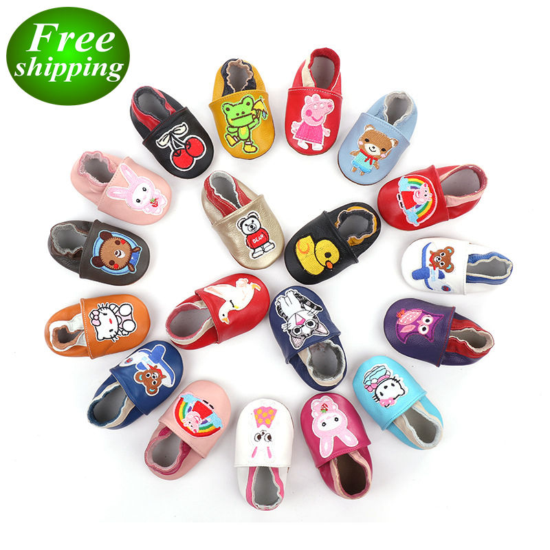 Baby Cartoon Leather Shoes animal design Toddler Boy Girl shoes
