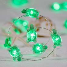 Summer Decorative Turtle String Lights  LED Silver Wire