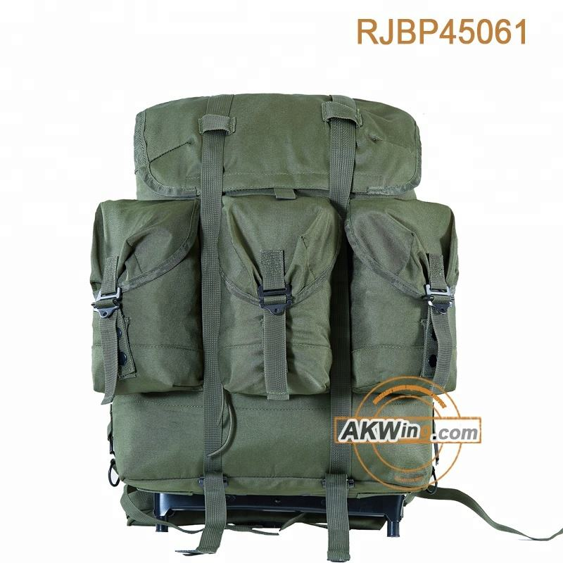 Olive Green U.S Military Backpack Medium Size ALICE Field PackとAluminium Frame