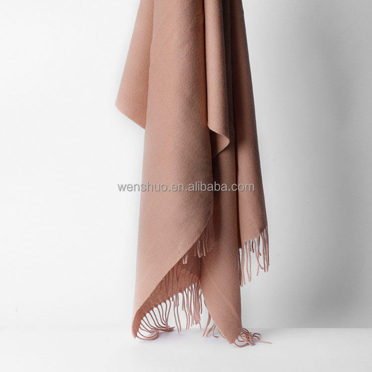 2019 Wholesale Solid Color 100% Cashmere Scarf For Women