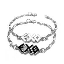 LBB01 Yiwu Huilin Korean Style Letter EXO Alloy Black And White Couples Bracelet Jewelry