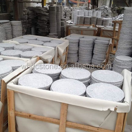 Hot Sale High Quality Round Paving Stone Granite Color G603 With Flamed Surface Finish For Garden Paving