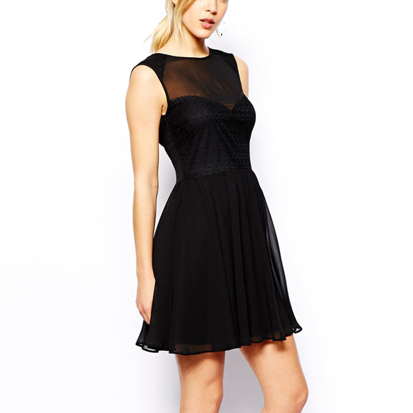 2015 new fashion dress,black sexy frock suits for women
