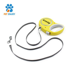 Tangle-free heavy duty pet leash dog with anti-slip handle spring innovative retractable dog leash