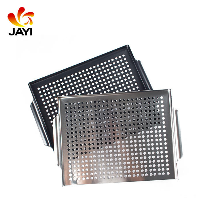 BBQ topper carbon steel perforated barbecue grill topper with nonstick coating