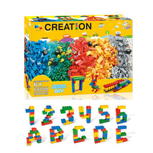 Factory Wholesale 1100 PCS DIY Creative Bricks Free Assemble Series ABS Plastic Educational Toy Building Blocks For Kid