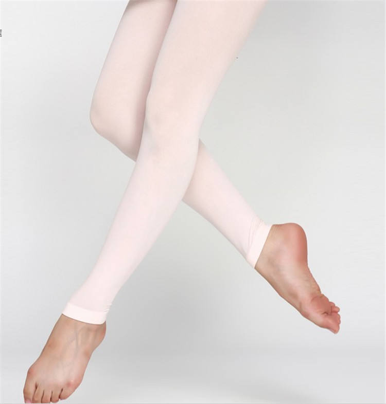Nylon Ballet Dance Wear Black Pink Girls Footless Tights