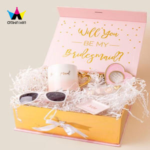 Premium Folding Carton Bridesmaid Gift Box/Wedding Favors Bridesmaid Paper Gift Box