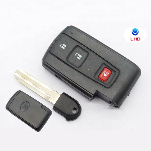 New Keyless 3 Pulsanti Smart Remote Key Caso di Shell Fob per La Chiave Dell'automobile 2004-2009 Prius Smart Key Fob