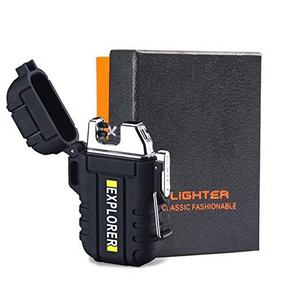 Waterproof Lighter USB Rechargeable Lighter Flashlight Double Arc Lighter