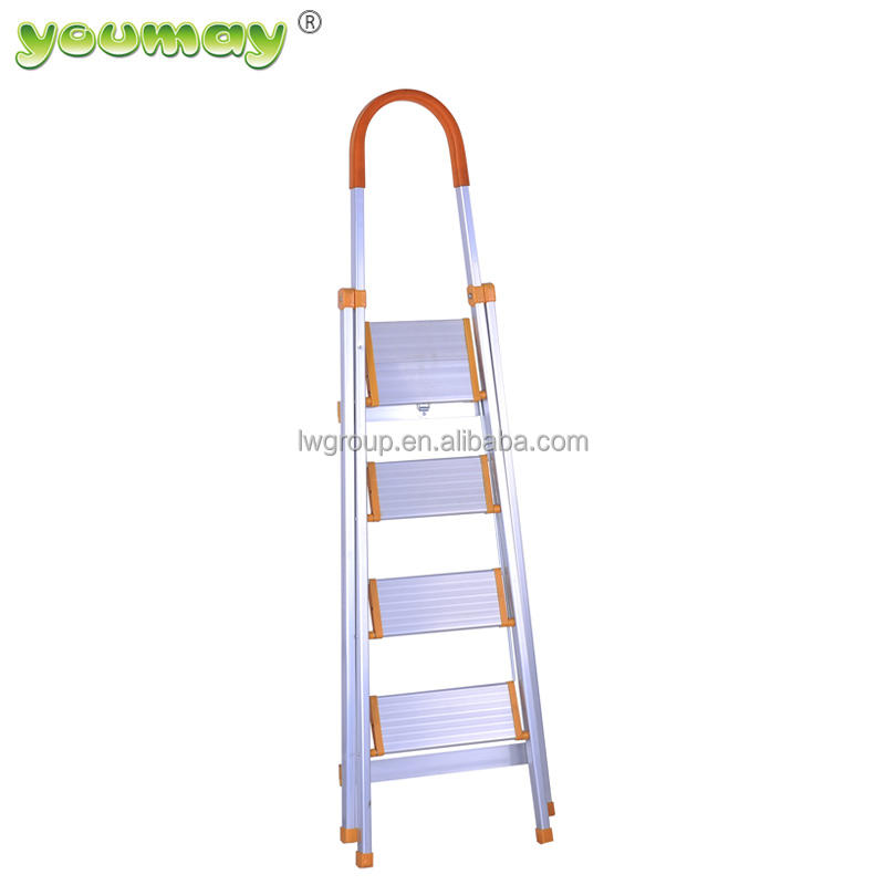 EN131 India colorful cheap Aluminum Folding Ladders Feature and Domestic Type AF0204A