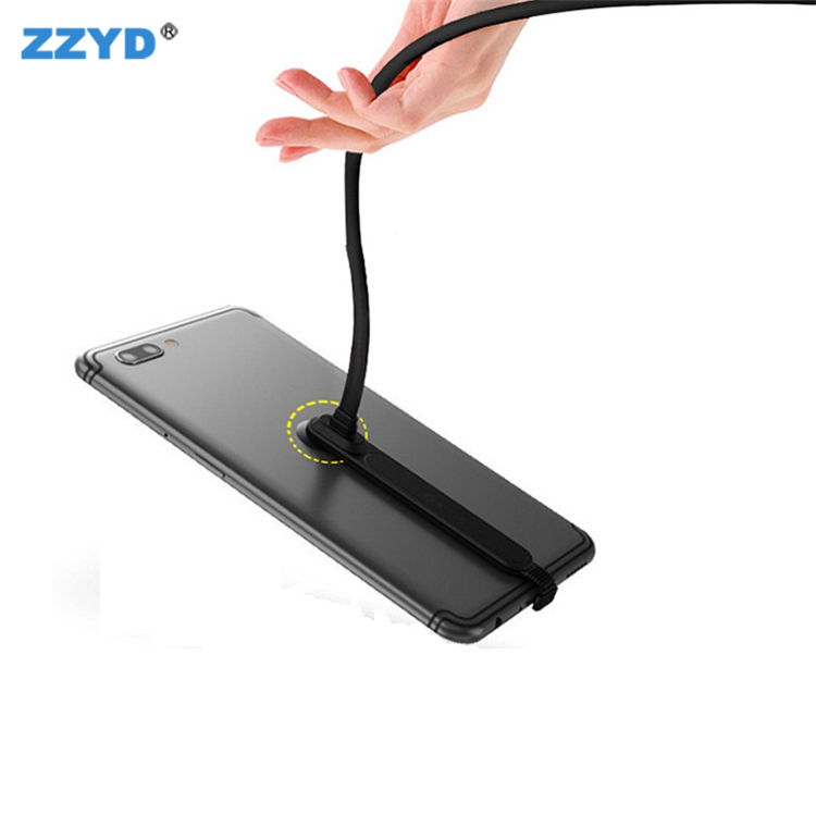 ZZYD New Phone USB Cables Sucker Charging Cable 180 Degree Bending and Flexible Charger Line