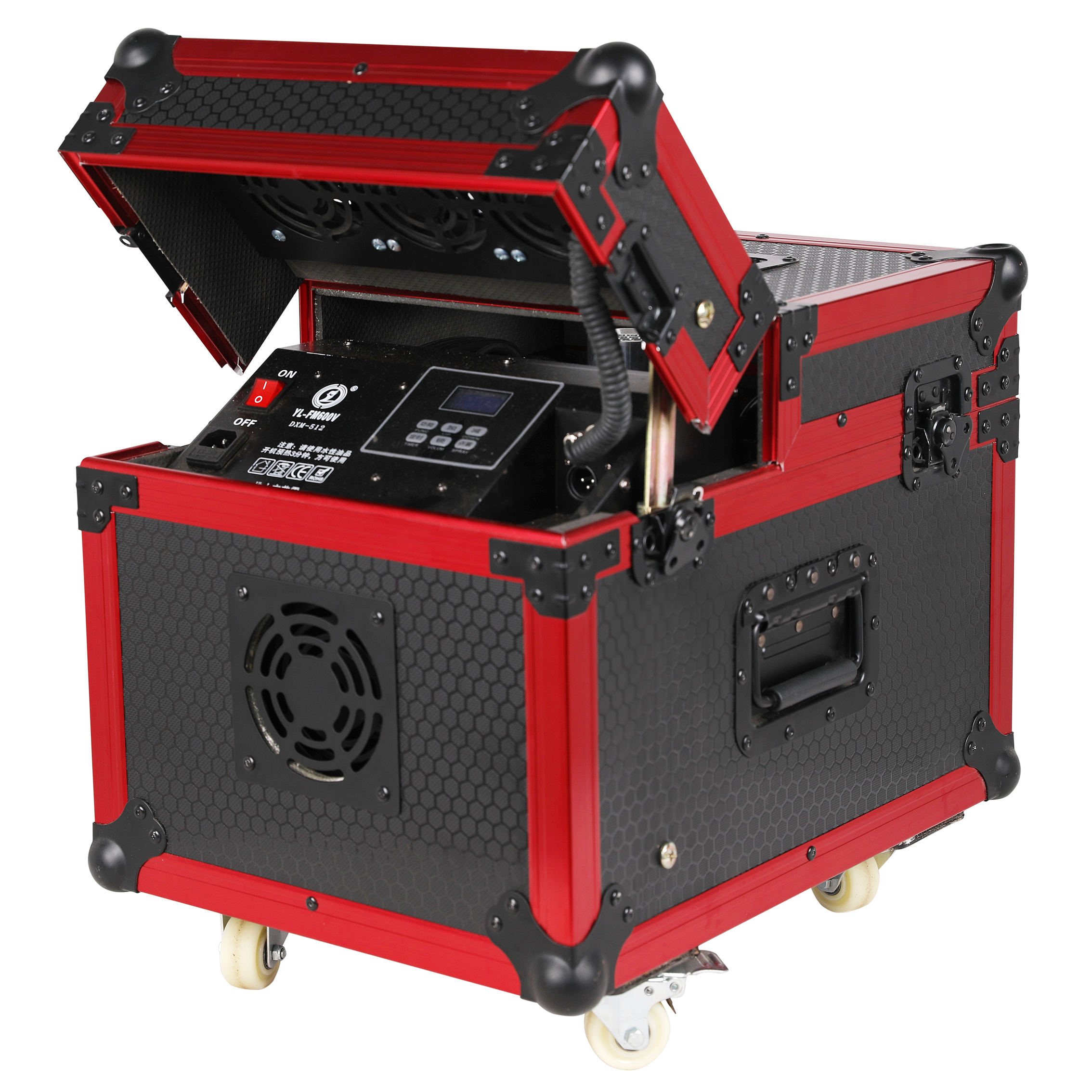 Classical Red Aluminum Profile Water Based 600w Professional DJ KTV DMX Double Hazer Machine