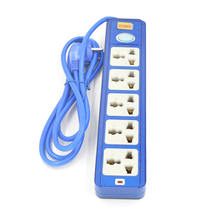 250V 10A Power Strip Extension Cord With 5 Socket 2M meter length