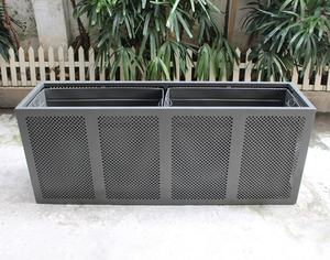 Custom Made Geperforeerde Metalen Planter Box Bloempot