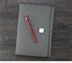 A5A6 three folded leather cover journal notebook with special elastic band