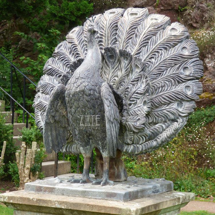 China Metal Peacock Statue