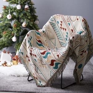 RAWHOUSE design with low MOQ promotion woven throw Christmas blanket