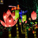 HCL140 outdoor led festival giant lighting lotus flowers Chinese lanterns