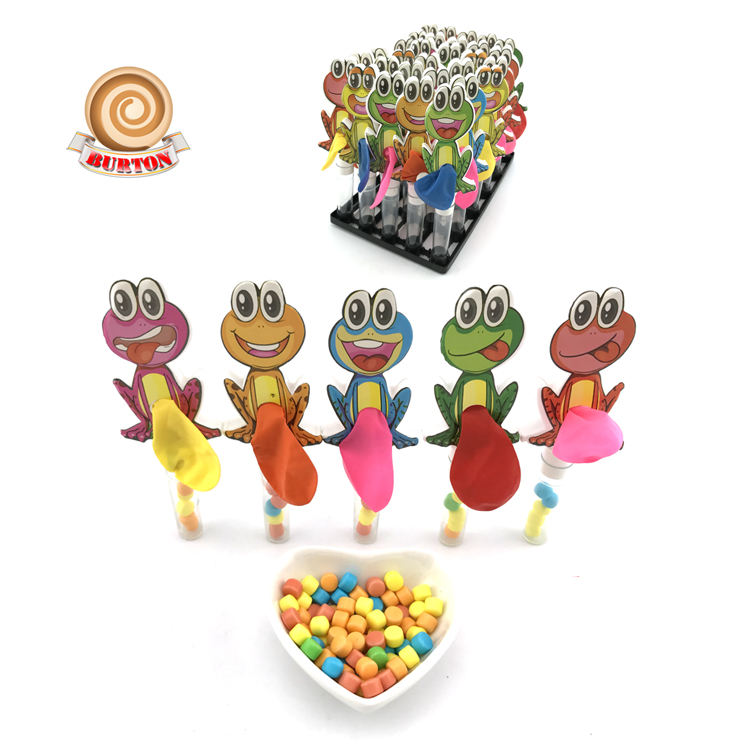 Wholesale funny frog balloon toy with candy