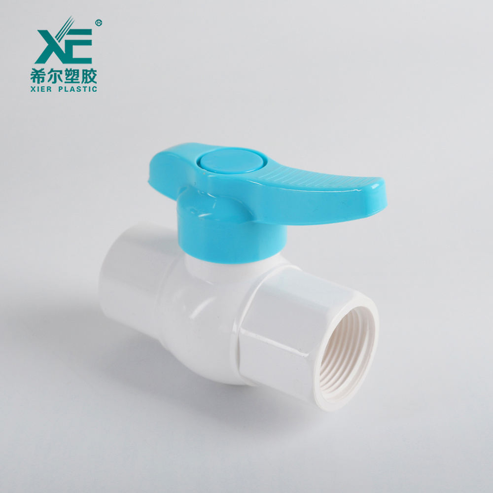 Factory direct fancy excellent normal pressure 2 inch upvc octagonal ball valve plastic