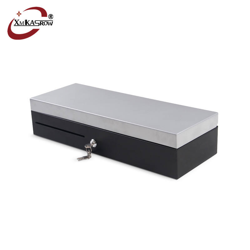 Stainless steel Cover flip top micros cash drawer for cashier machine
