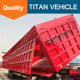 Titan 3 Axle 30-50 Tons Rear End Dump Semi Trailer / Side Tipper Semi Trailer For Sale