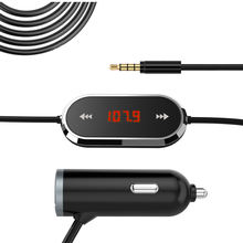 New Model Handsfree Wireless USB LCD Car Kit With FM Transmitter 3.5mm