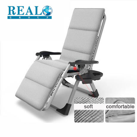 Home furniture leisure zero gravity recliner lounge chair bed folding camping chair with footrest