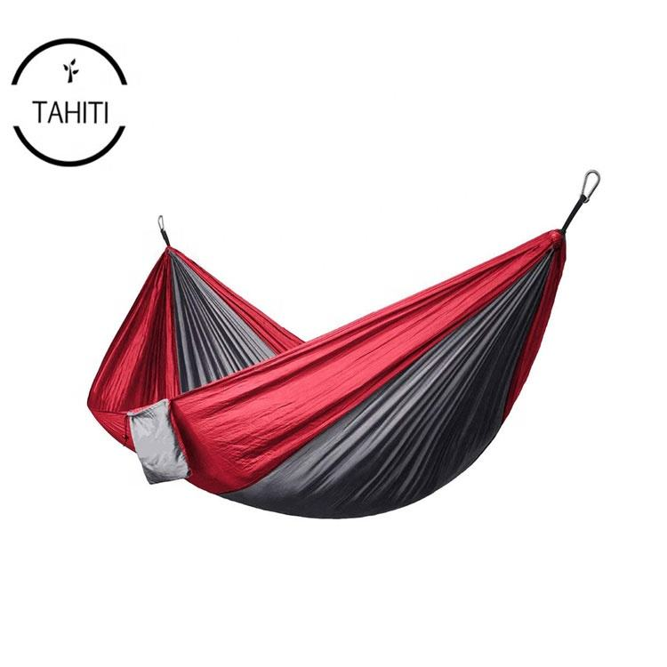 Outdoor 2 Person Sleeping Bed Swing Lightweight Parachute Portable Double Hammocks for Camping