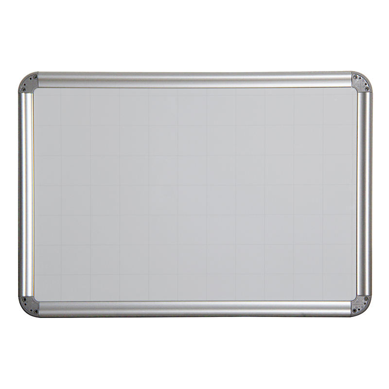 High Quality Magnetic Aluminum Frame Dry Erase White Writing Board With Grid