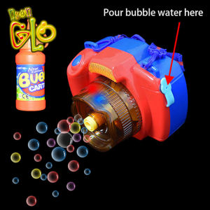 Promotional gift battery operated led camera bubble gun toy