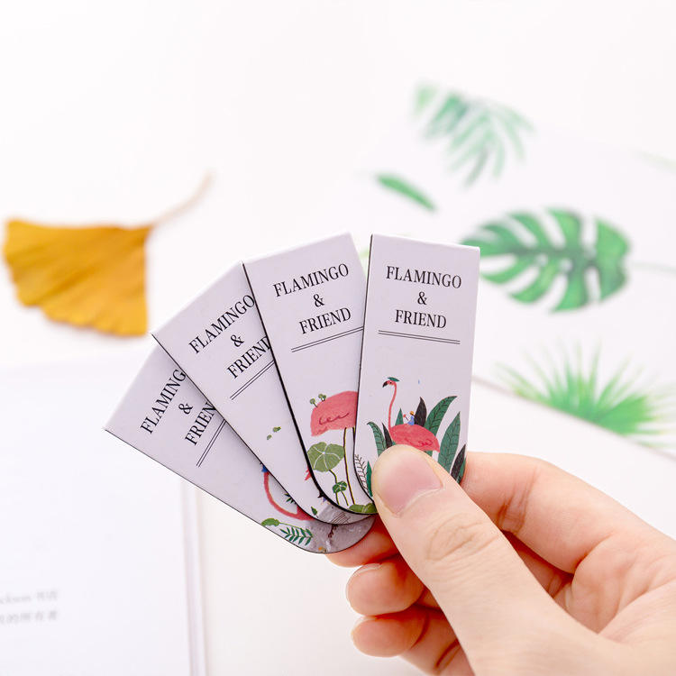 High Quality Strong Magnet fold custom folding magnetic bookmark
