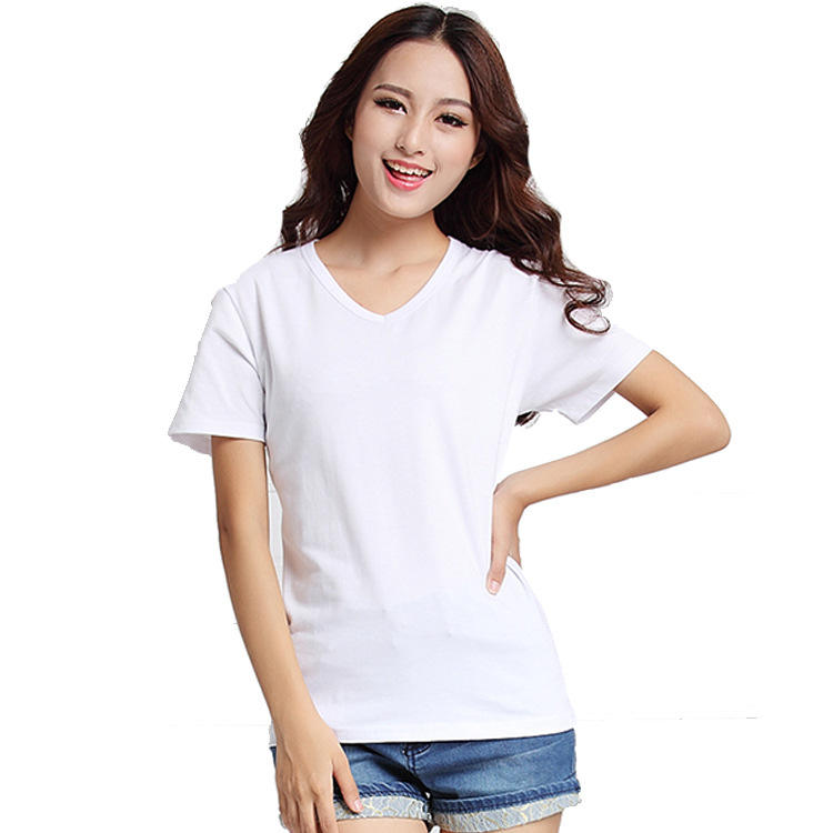 Wholesale High Quality Print Your Own Logo Pattern Advertising Promotion Customize Ladies T-shirt