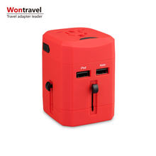 Dual USB Electronic travel kit accessory airline travel adapter