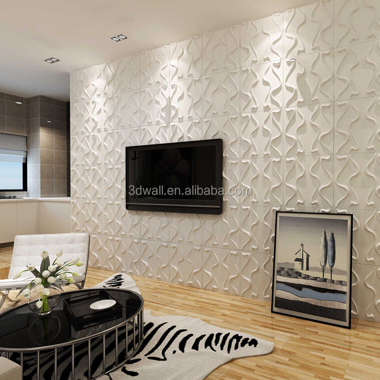 New building construction materials modern home decor 3d sticker decorative wall panels