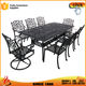 garden 8 seater cast aluminum patio furniture china rectangle table
