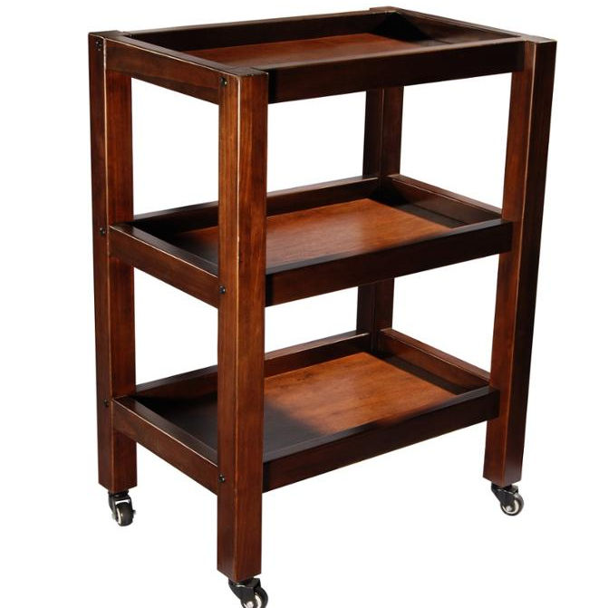 MT33 Infinity 3-Shelf Wooden Trolley Salon Cart Salon Trolley