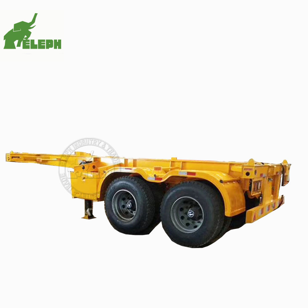30-35ton 20 chân 2 trục skeleton container bán skeleton bone khung chassis 20ft xe tải 20ft container trailer