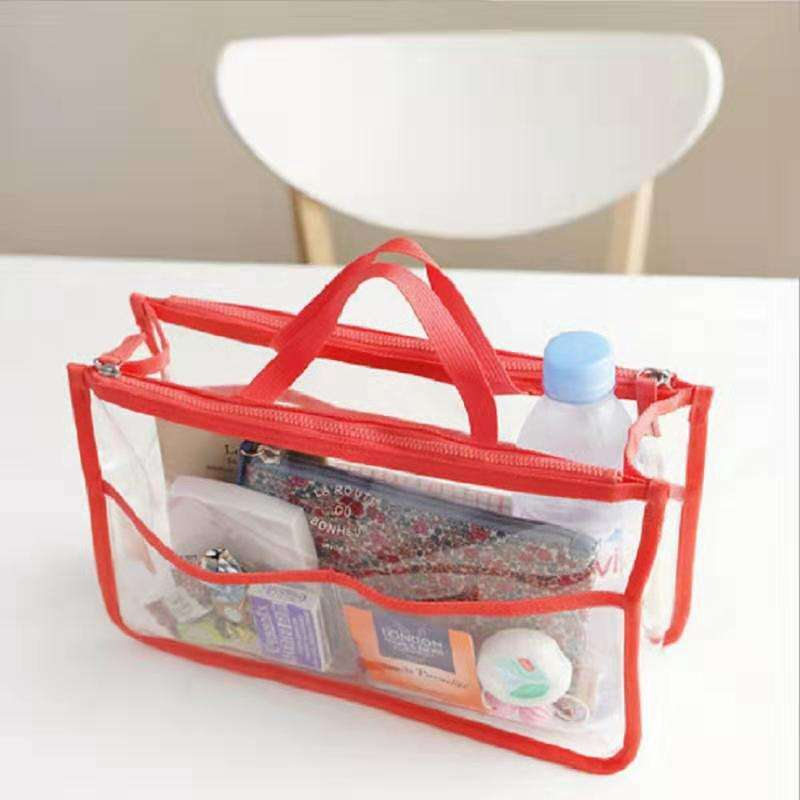 Trend EVA multi-function handbag in the package waterproof wash storage bag PVC double zipper cosmetic bag wash bag