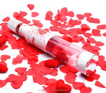 Red heart wedding confetti adult party popper