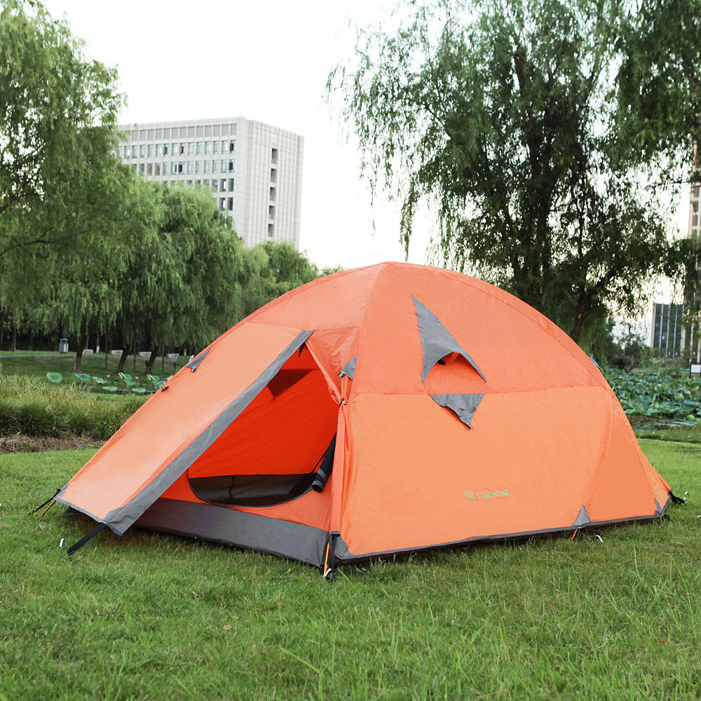 2 Color Double-Layer Camping Tent 1-2 People Outdoor Camping Ultra Light Tent 3 orders