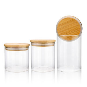Factory direct supply recycled glass jar heat-resisting high borosilicate glass jar