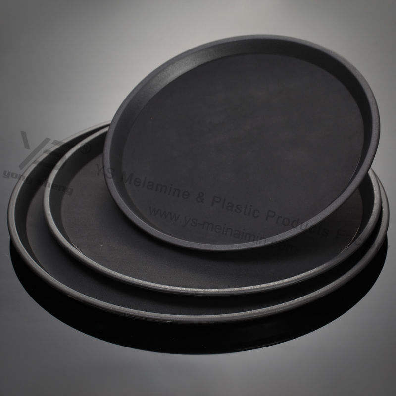 unbreakable shidproof trays rounded plastic trays