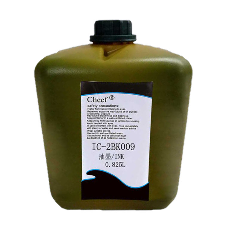 Printer consumables 0.825L black pigment ink IC-2BK009 inkjet printers inks for domino printer