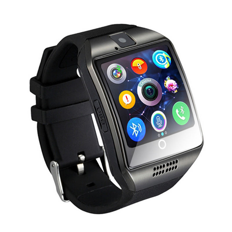 Stepfly Smart Watch Q18 With Camera Facebook Whatsapp Twitter Sync SMS Smartwatch Support SIM TF Card For IOS Android