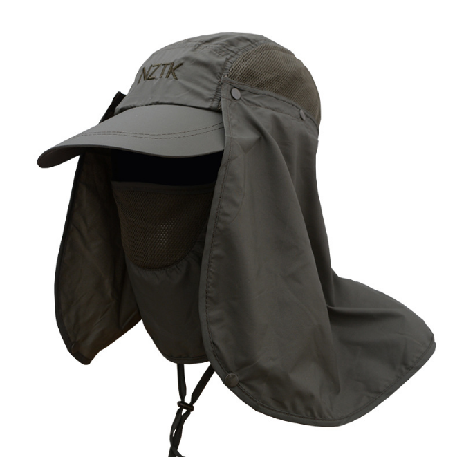 Multi function Stock Sunhats 360 Degree UV Resistant Cap Removable hat for Farming fishing outdoor sports
