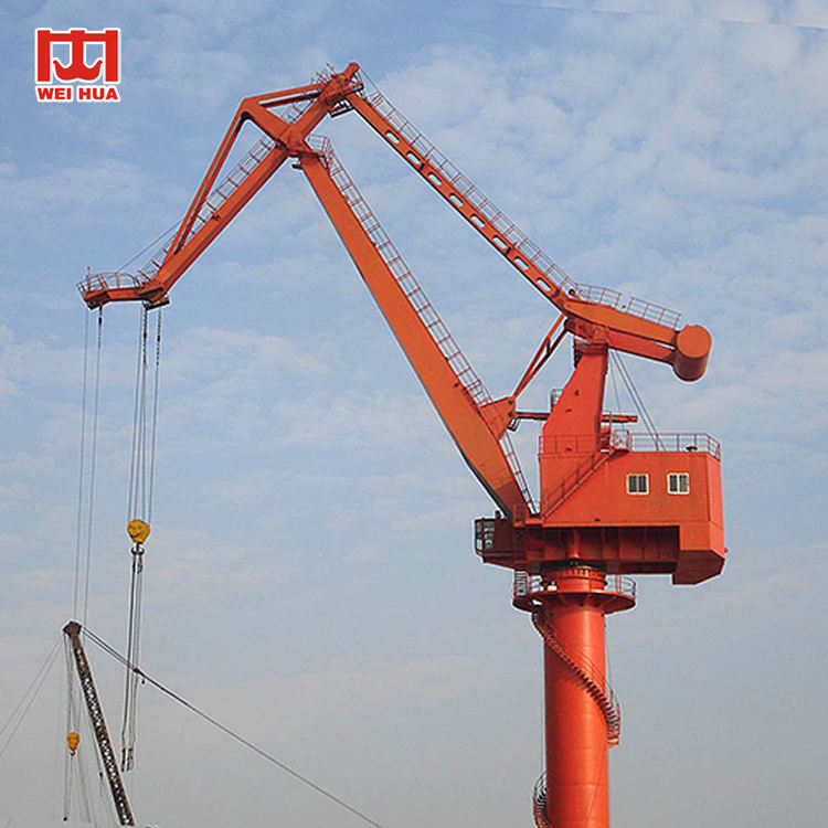 MQ Type Seaport Swing Portal Jib Crane With Container Spreader Or Grab Fixed Portal Crane