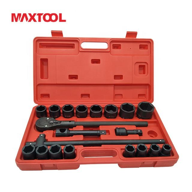 Handgereedschap 21 Pcs Heavy Duty Dopsleutel Set Impact Socket Set