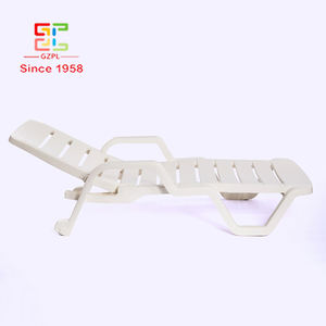 100 % Guarantee High Quality BSCI Certified White Plastic Beach Chair Foldable